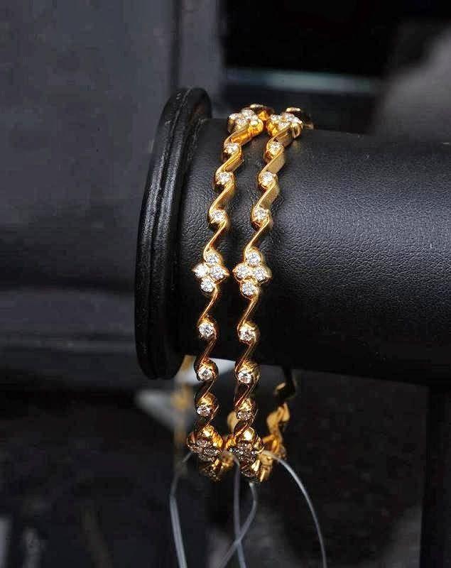 simple diamond bangle