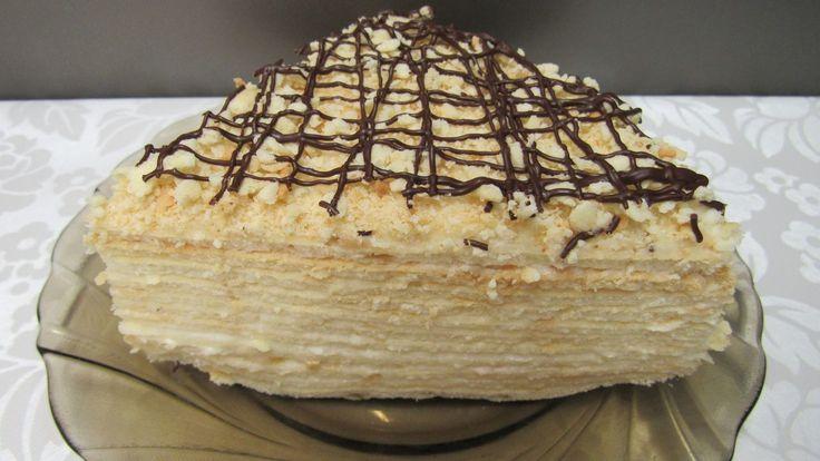 """Многослойный """"Сметанник"""" - самый простой торт"""
