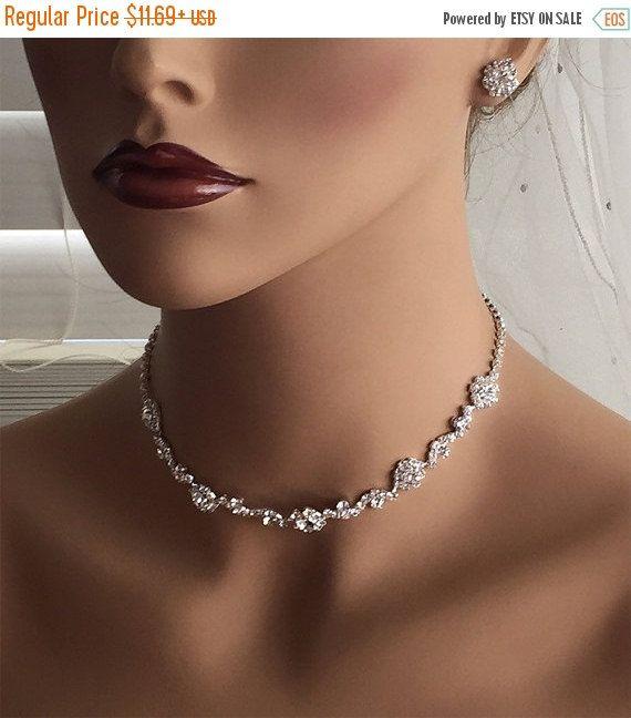 Wedding jewelry bridal jewelry set Bridal necklace by GlamDuchess