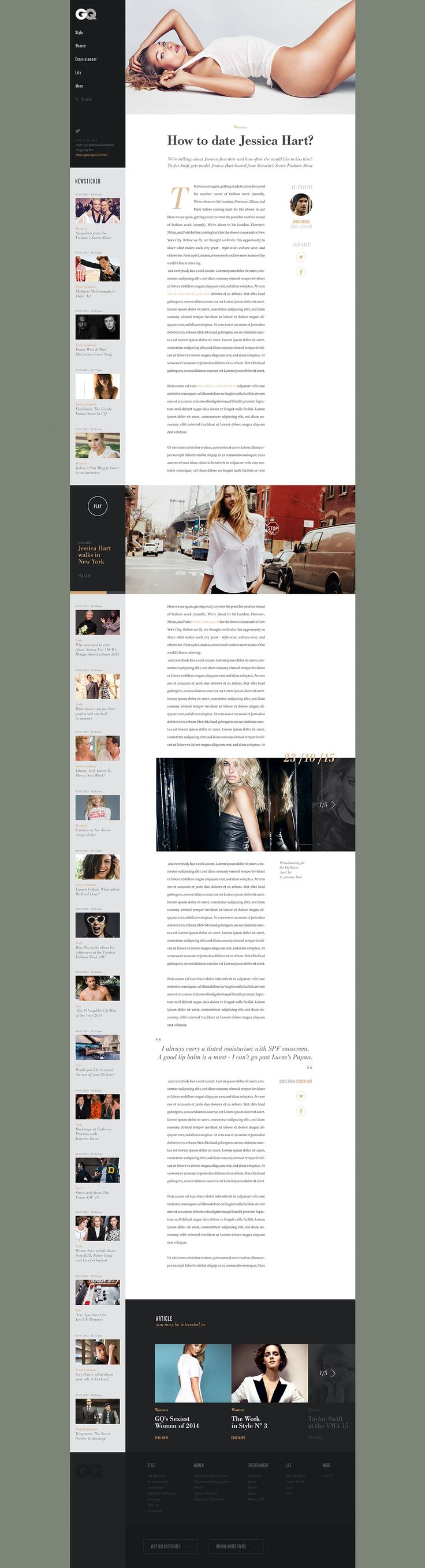 GQ Redesign Concept on Web Design Served