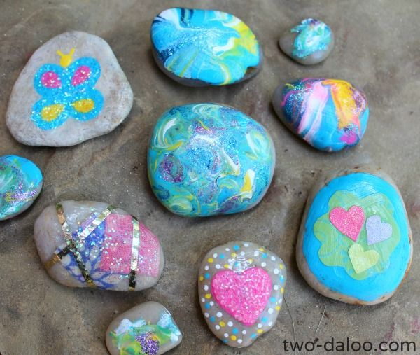 Magic Fairy Painted Rocks and Storage tower- perfect for imaginative play from Twodaloo!