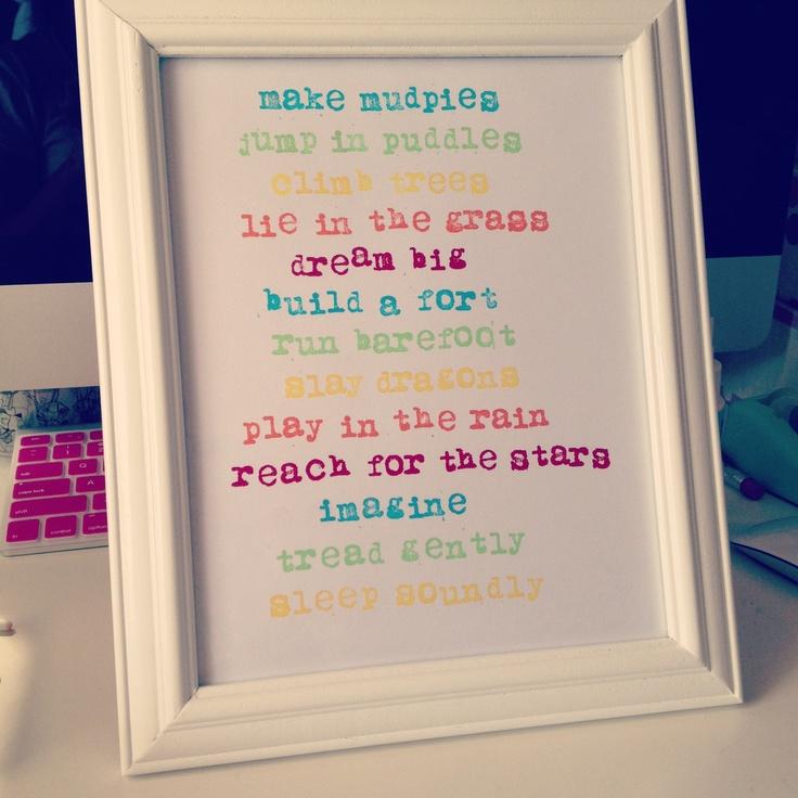 'make mudpies' print.