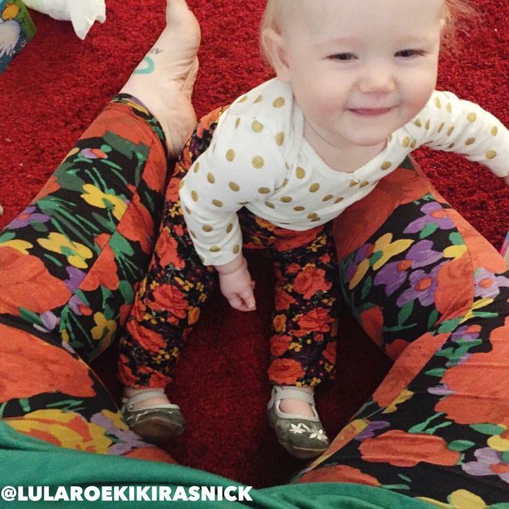 LuLaRoe mommy and me. LuLaRoe leggings. LuLaRoe floral. Mom life. Mom style. Mommy and me outfit.