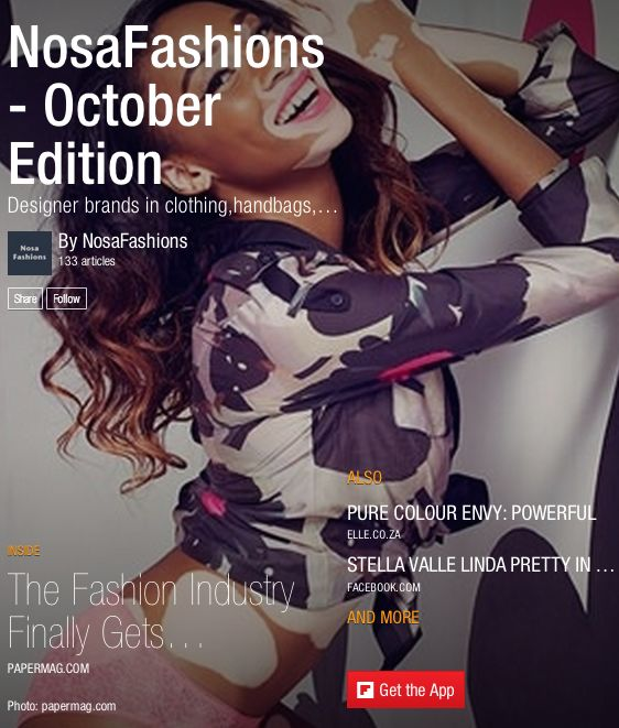 The NosaFashions Magazine - A magazine on fashion trends, business of fashion, celebrities, fashion videos, and recommended items.