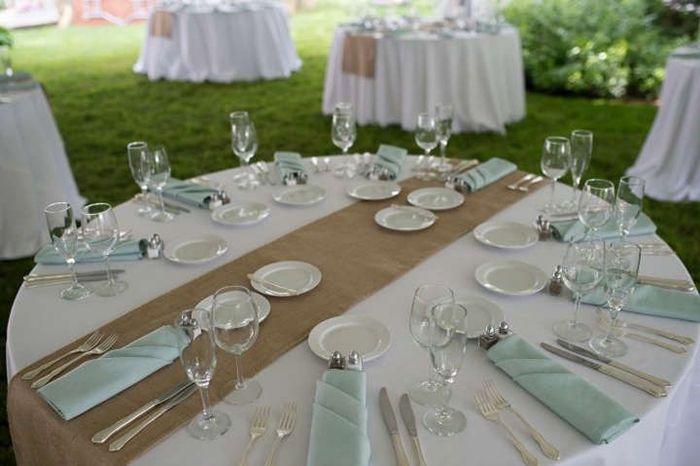 Juta no seu casamento - mesa tradicional