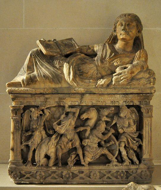 Urna funeraria di Larthi Ceicnei. Volterra 150 a.C.
