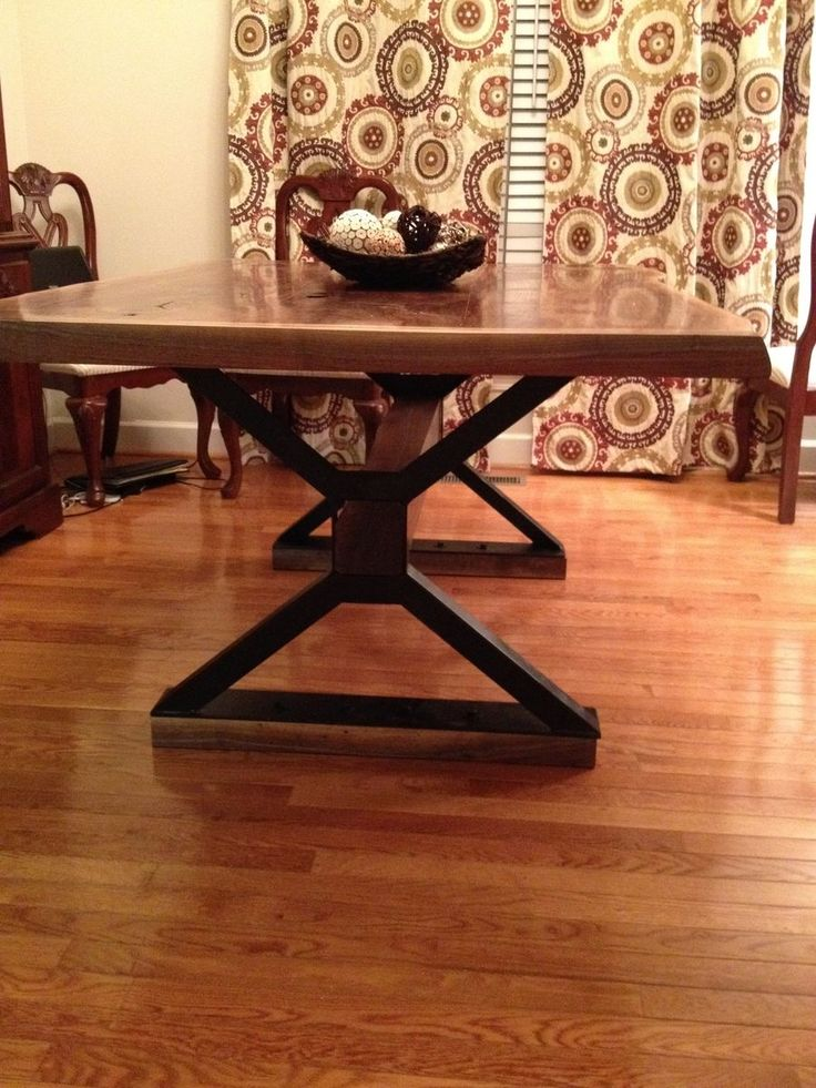 custom made live edge dining room table table project pinterest ideas dining room tables. Black Bedroom Furniture Sets. Home Design Ideas