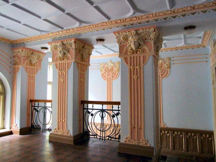 Jugendstil (Art Nouveau) building in Riga, Latvia.  1903 [Alberta iela 8] interior