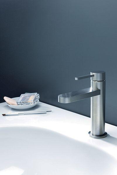 bathroom taps - stainless steel - UNIX - Steel Line - Cristina Rubinetterie - Italy