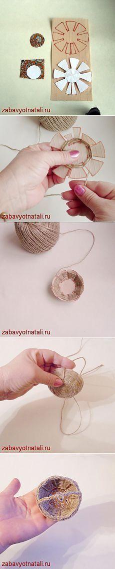 Mini cesta de cuerda