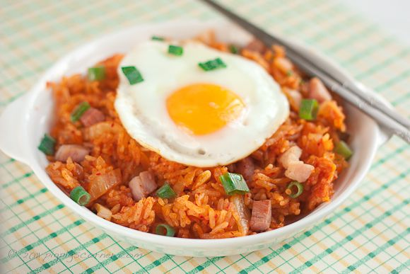fried with kimchi fried rice | eggs | Pinterest