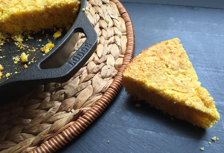 Alton Brown's Creamed Corn Cornbread: Although there are few things I love more than sitting down naked in a dark closet with a big spoon and an entire batch of creamed corn, occasionally I make extra specifically to use in this bread, which is pretty much the best skillet cornbread I've ever made.