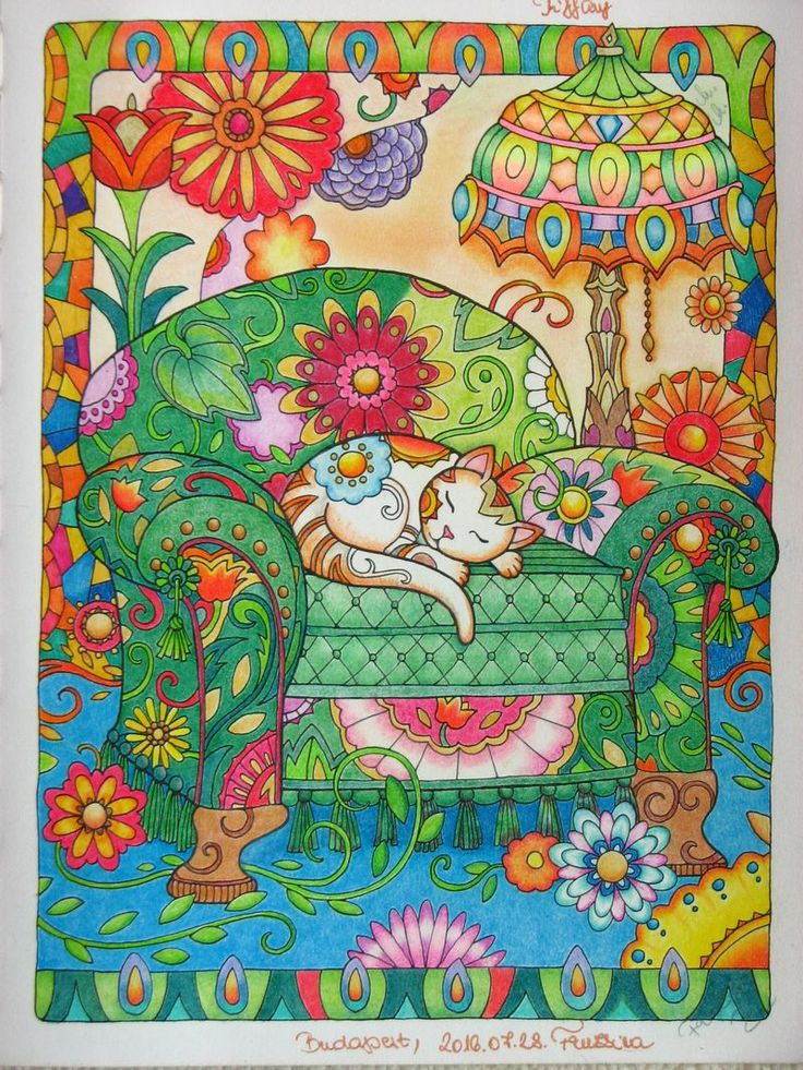 Adult coloring book_Marjorie Sarnat Cats