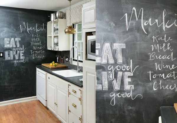 schoolbord-verf-keukenmuur