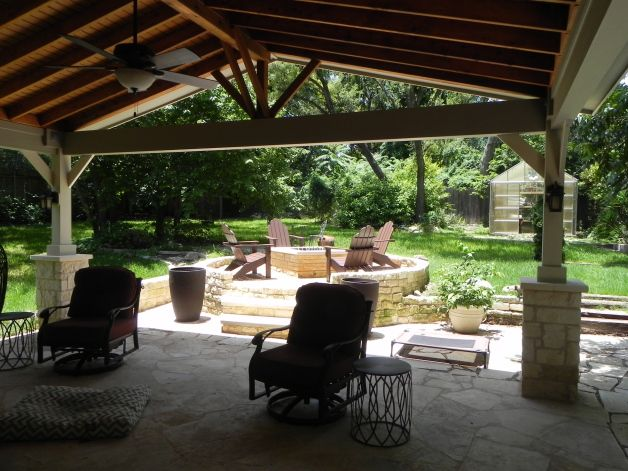 Austin Tx Custom Outdoor Fire Features, Covered Patio Austin