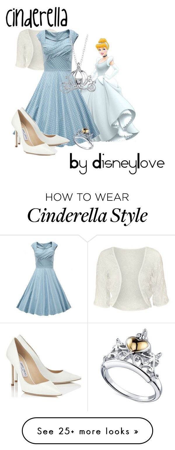 """""""Cinderella"""" by melinda1132001 on Polyvore featuring Disney, WearAll, Jimmy Choo, cinderella, DisneyLove and disneyoutfits"""
