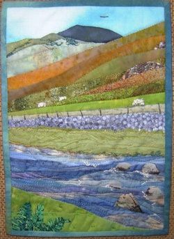 Landscape Quilt - The Lake District in cotton | Llangollen Quilt Fest 2011 by Sandra Goldsborough