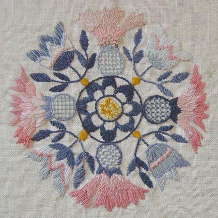 Diseño Ingrid Eggiman-Jonsson. Bordado por Helena