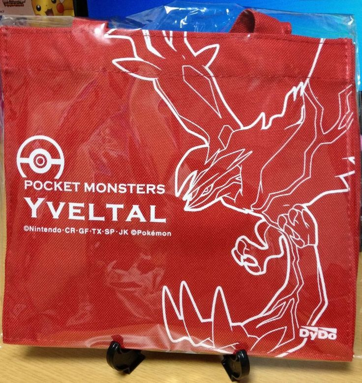 Yveltal Pokemon XY Small Tote Promotional item Licensed Product Japan
