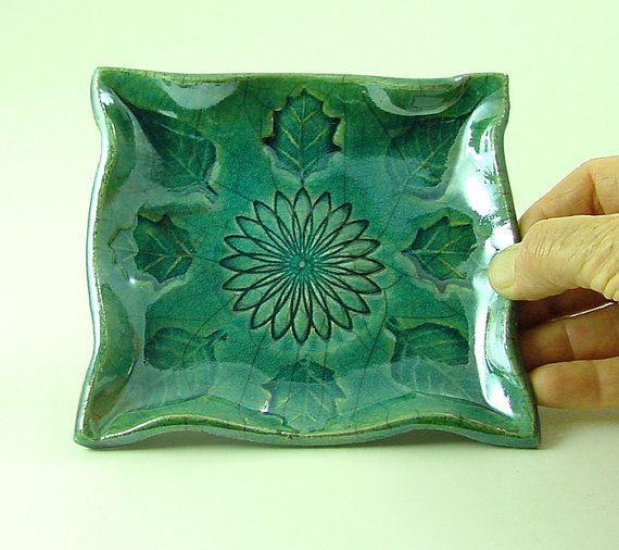 Flower Leaf Freeform Plate  Handmade Ceramic by DeBaunFineCeramics, $15.25