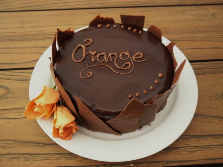 chocolade sinaasappel taart