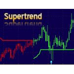 SuperTrend Indicator is good to identify the trend of current market. It uses Average True Range (ATR) and median price to calculate the upper and lower trend line. It provides signals whenever the price breakout the current trend line.