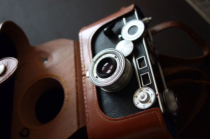 This is a 1940's Argus Model C-3 with 50mm lens, leather carrying case, flash attachment, and box by Livingonmars. It's available on Etsy.   I love taking photos of these cameras in natural light.   #photography #camera #film #photo #35mm #cam #argus #vintage #1940