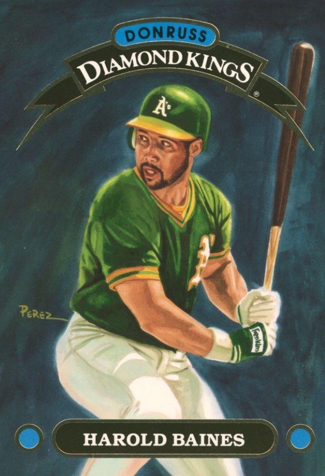Pin By Jason Wong On Donruss Diamond Kings Baseball Trading Cards King Card Oakland Athletics