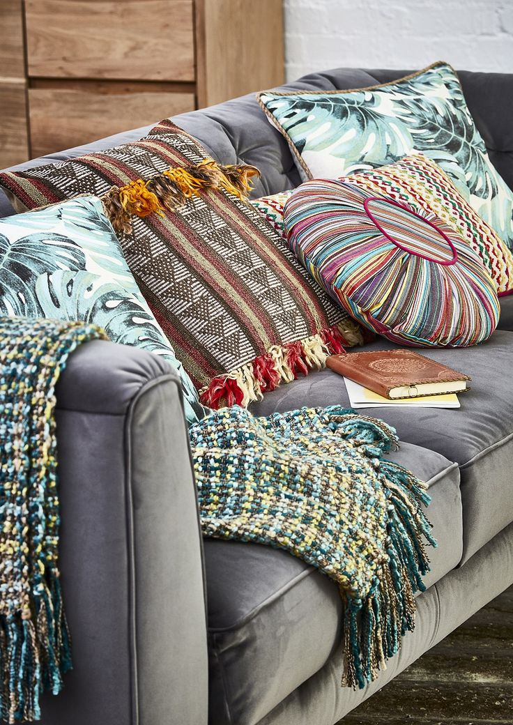 The Eclectibles look blends influences from both Scandi and South American style for a unique and awe-inspiring look. Get the look with the Renato Grey Fabric Sofa and an array of patterned accessories. Click to shop!