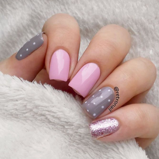Pretty And Simple Nail Designs For Short Nails Worth Trying In 2020 Grey Nail Designs Trendy Nails Pink Nails