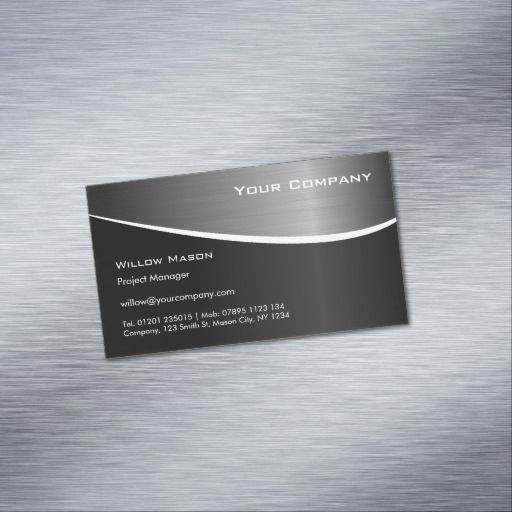 Best 294 black stainless steel business cards images on pinterest black stainless steel magnetic business card colourmoves
