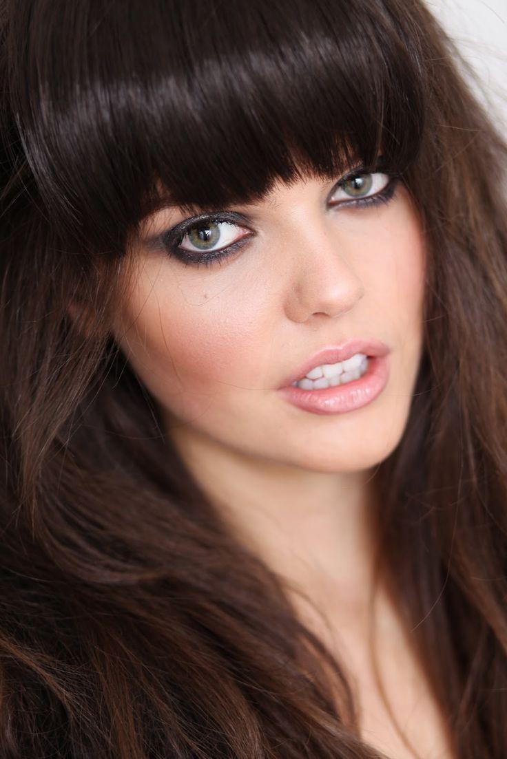 model: Fringes Bangs, Hair Colors, Blunt Bangs, Dark Hair, Bangs Bellagiohairstudio, Hair Bangs, Blue Eye, Big Bangs, Hair Style