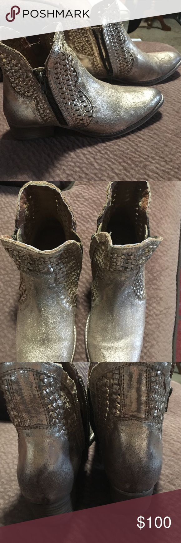 Gold Seychelles! Hard to find! Size 10 HARD TO FIND!  Brand new gold Seychelles size 10! Fit a 9.5 ! These are beautiful wish they fit me!. Open to offers but low balls with be ignored ! Seychelles Shoes Ankle Boots & Booties