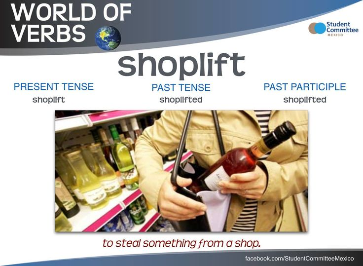 ' Shoplift ' WORLD OF VERBS