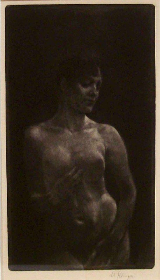 Max Klinger. Female nude in mezzotint 1891-1904