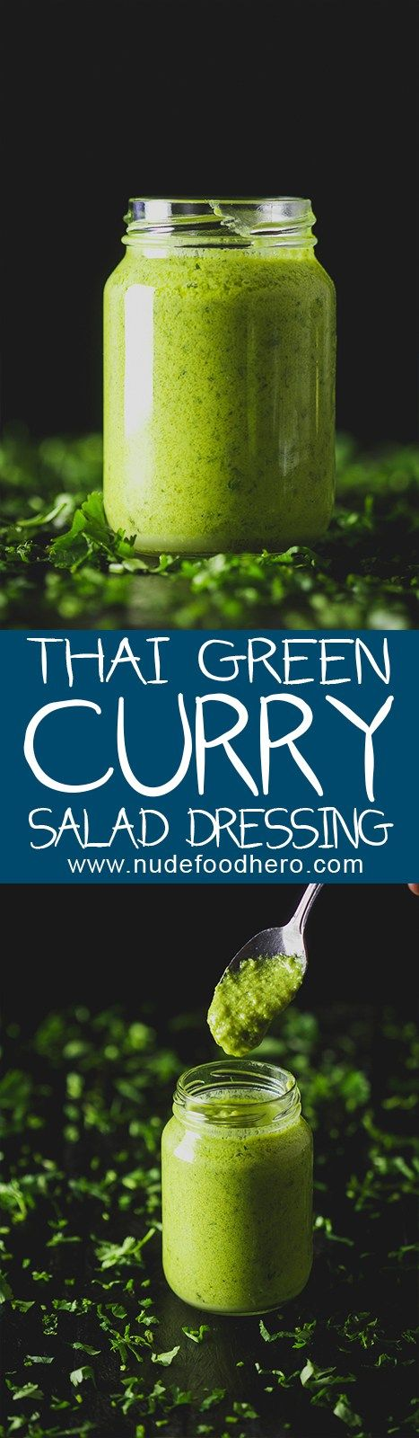 Spicy ∕∕ sweet ∕∕ creamy ∕∕ and utterly delicious, this Thai Green Curry Salad dressing will put all other salad dressings to utter shame!