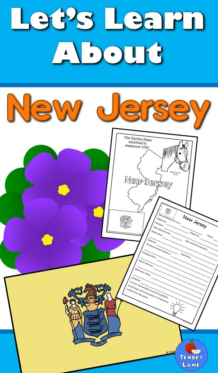 New Jersey History And Symbols Unit Study With Images Study