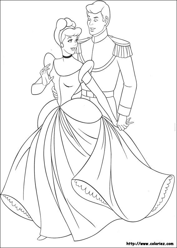 Cendrillon Cinderella Coloring Pages Princess Coloring Pages Disney Coloring Pages