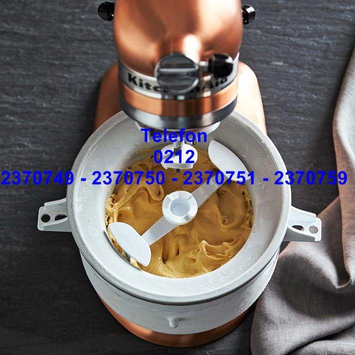 Kitchenaid Dondurma Yapma Aparatı:Kitchenaid makarna kesme aparatları Artisan Kitchenaid mixer et kıyması çekme aksesuarları Kitchenaid mikser dondurma makinası yedek parçalarından bu Kitchenaid dondurma yapma aparatı Kitchenaid stand mikserleri dondurma
