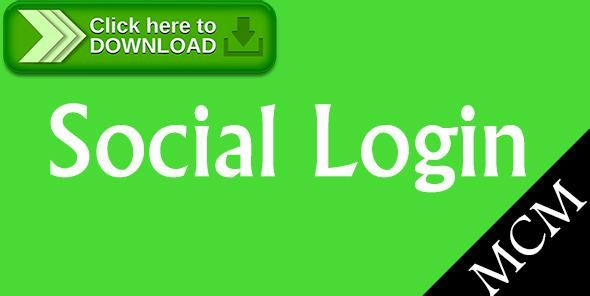 [ThemeForest]Free nulled download Magento Social Login from http://zippyfile.download/f.php?id=48238 Tags: ecommerce, facebook login, google login, live login, magento extension, Magento Module, magento plugin, magento social login, social connect, social login, twitter login, WordPress Login, yahoo login