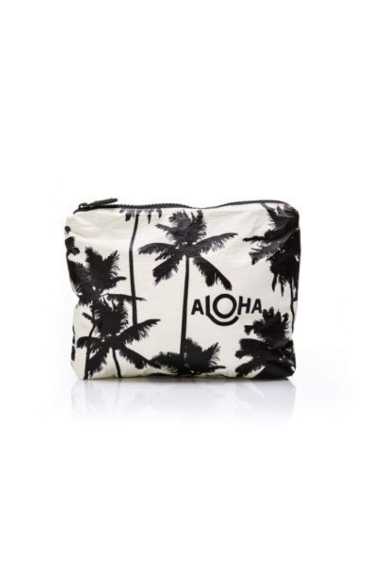 "Inspired by Kauai's coco palms, and the famous Coco Palms Resort, take a little Kauai with you on your next adventure. This pouch is perfect to use as a beach clutch or to stow your wet bikini.    Measures: 8"" across x 1.5"" wide x 6.5"" tall   Palms Splash Proof Pouch  by Aloha Collection. Bags - Beach Ready Minnesota"