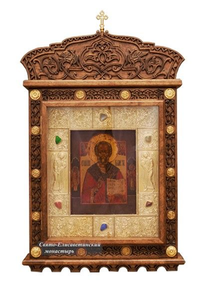 Icon Case (Kiot) - from the Workshop of St. Elisabeth Convent - #sanctuaryitems #order #delivery #purchase #orthodox #christian #orthodoxy #workshop #iconcase #icons #kiot