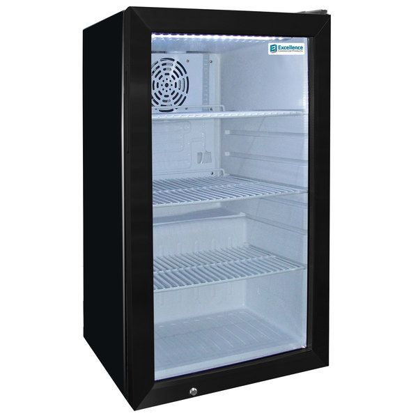 Excellence Emm 4s Black Countertop Display Refrigerator With Swing