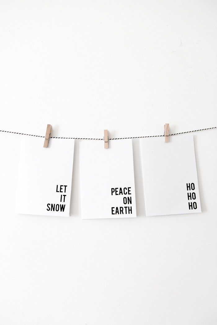 Free Printable Minimalist Christmas Cards