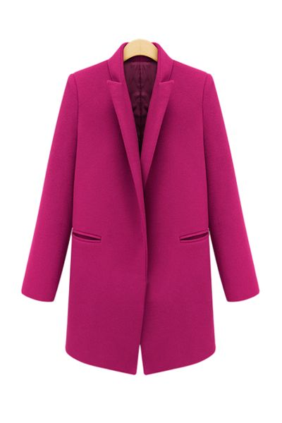 Fuschia pink Boyfriend Coat