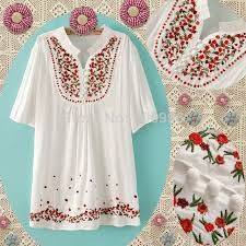 """bordados mexicanos patrones - Buscar con GoogleI love these blouses  reminds me of my """"Hippie """" days.  lol !"""