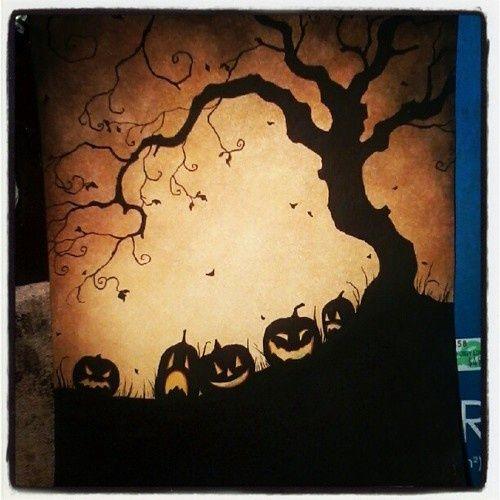Jack-O-Lanterns Under tree