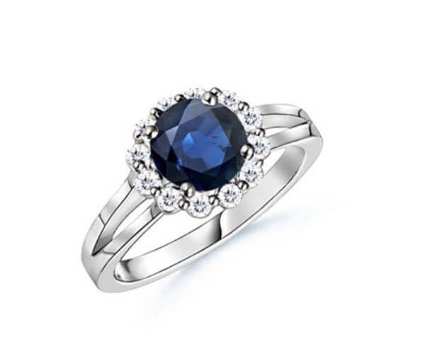 Bien-aimé Les 25 meilleures idées de la catégorie Bagues en diamant bleu sur  UL62