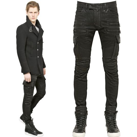 Find More Jeans Information about Men's Jeans BNWT Designer Men's Fashion Runway Cargo Waxed Shiny Coated Stretch Slim Black Biker Washed Jeans Size 28 38,High Quality jeans lee,China jean hats Suppliers, Cheap jean from New More One on Aliexpress.com