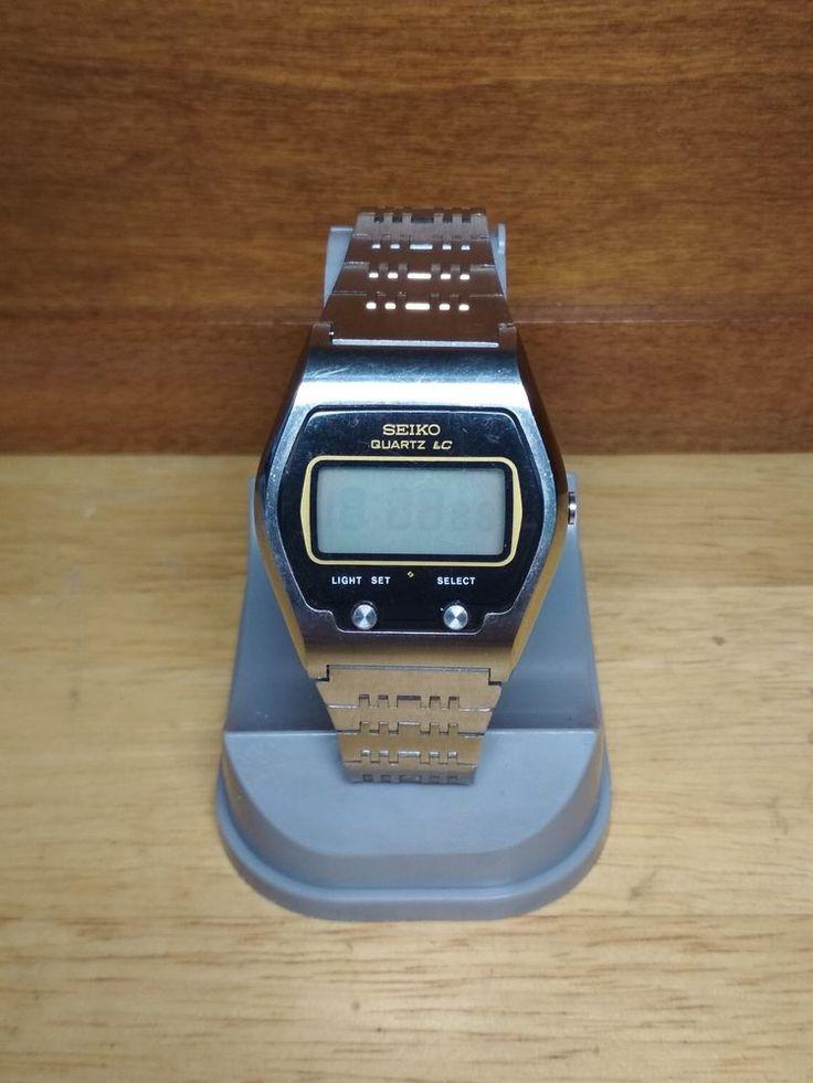 Vintage Seiko Quartz LC Digital Watch 0664-5000 James Bond Watch Japan 1975/76 #Seiko